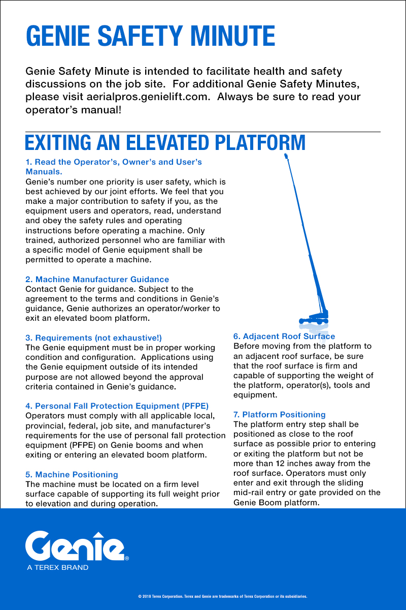 Exiting an Elevated Platform