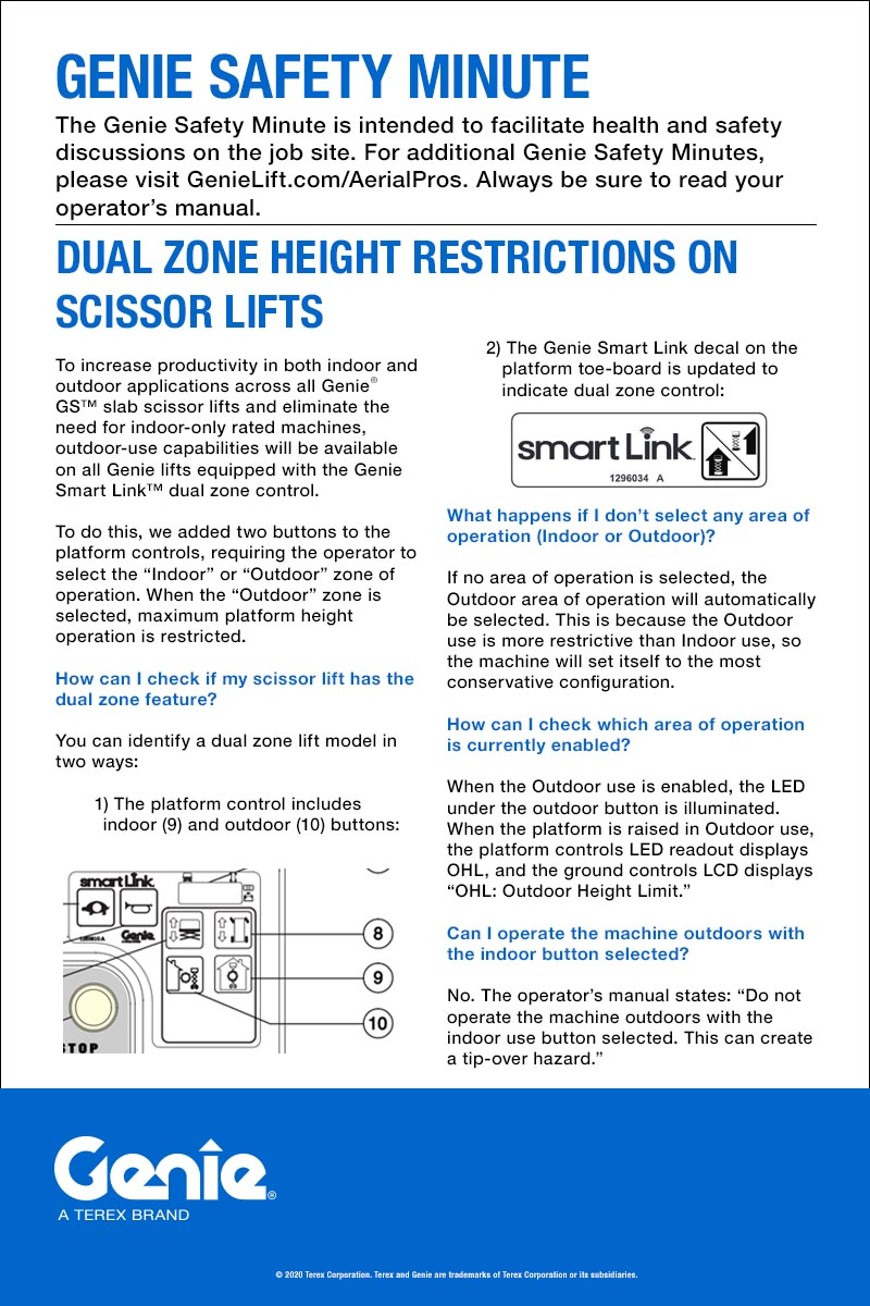 SAFETY MINUTE - Dual Zone Height Restrictions on Scissors
