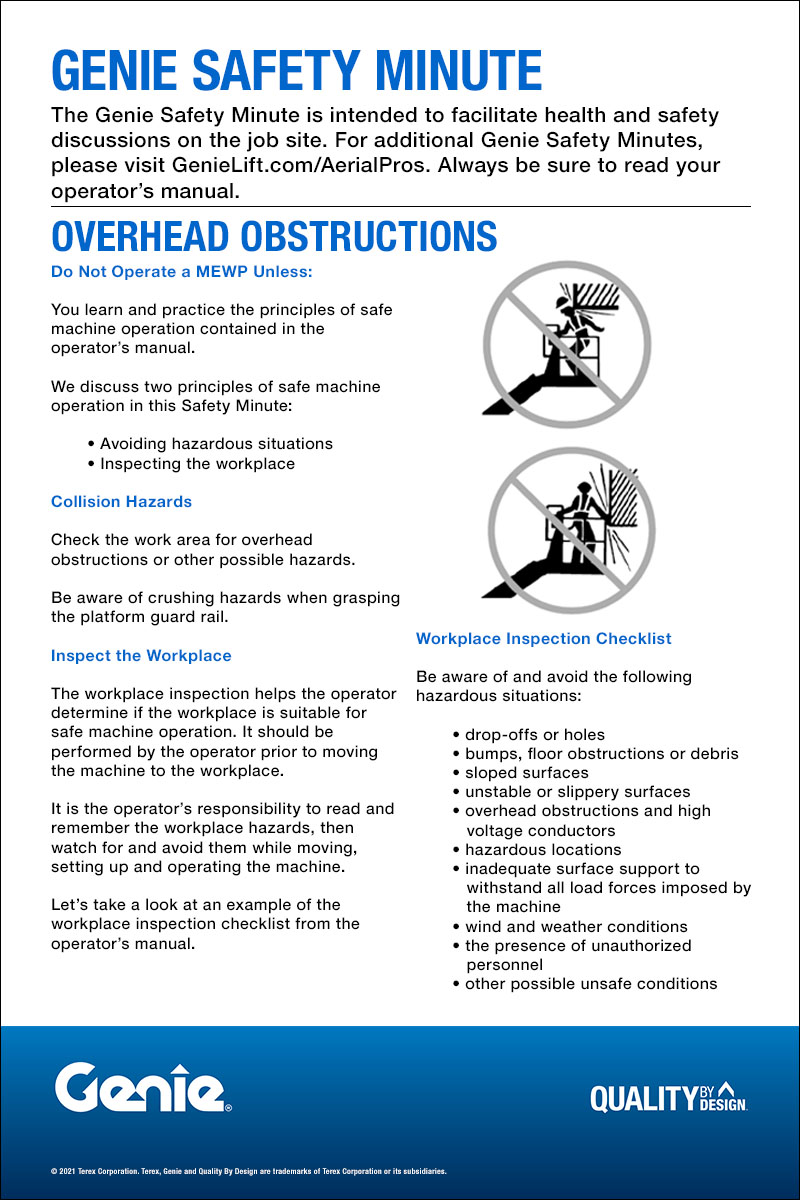 SAFETY MINUTE - Overhead Obstructions