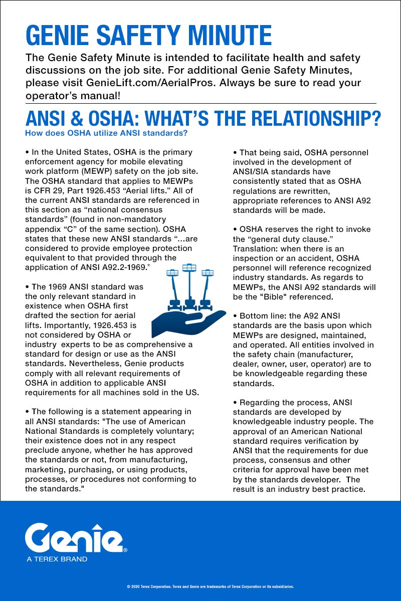 SAFETY MINUTE - ANSI and OSHA: What's the Relationship?
