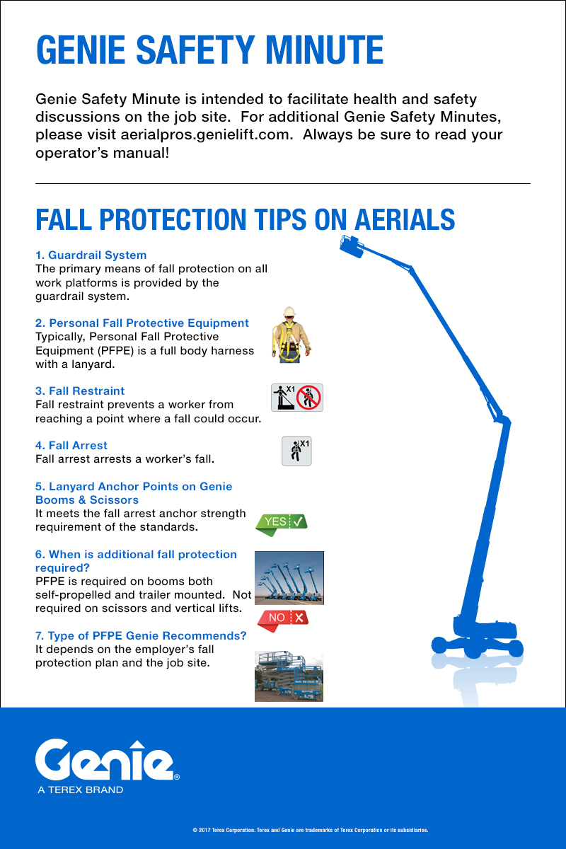 Genie Safety Minute: Fall Protection