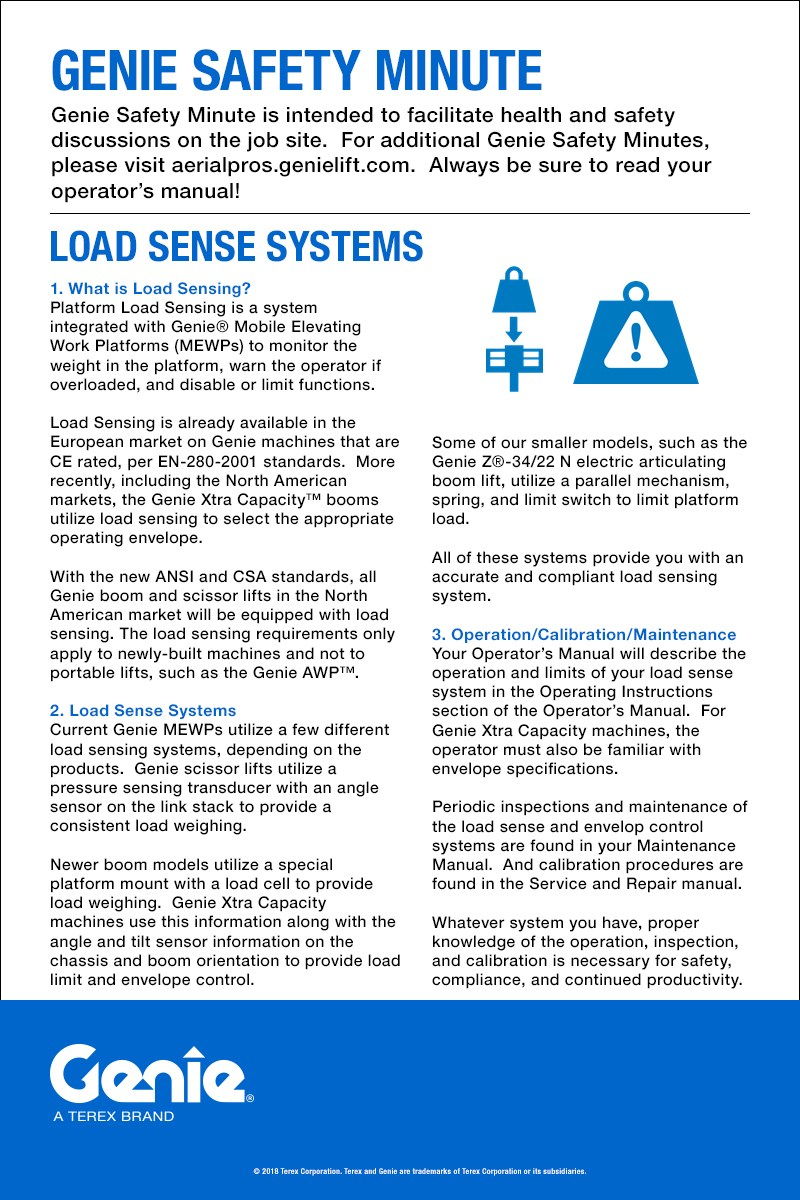 Genie Safety Minute: Load Sense