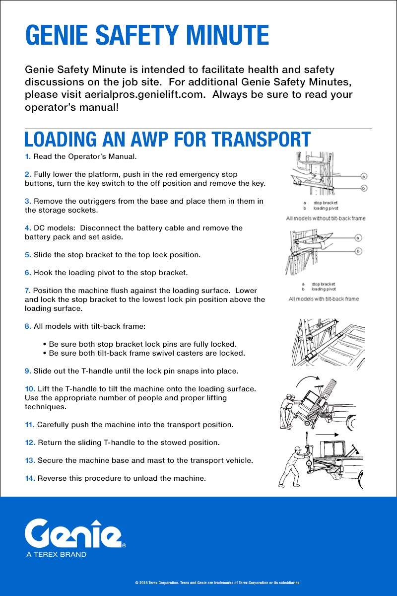 Genie Safety Minute: Loading an AWP for Transport