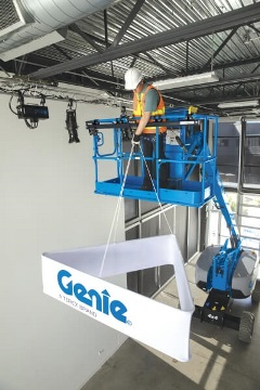 Genie Lift Tools Expo Installer Decor and Signage Task Made Easy