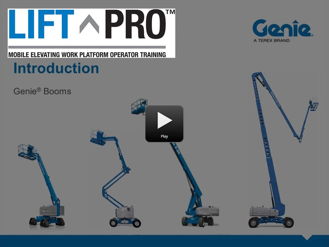 Lift Pro Online Product Training: Intro to Genie Booms