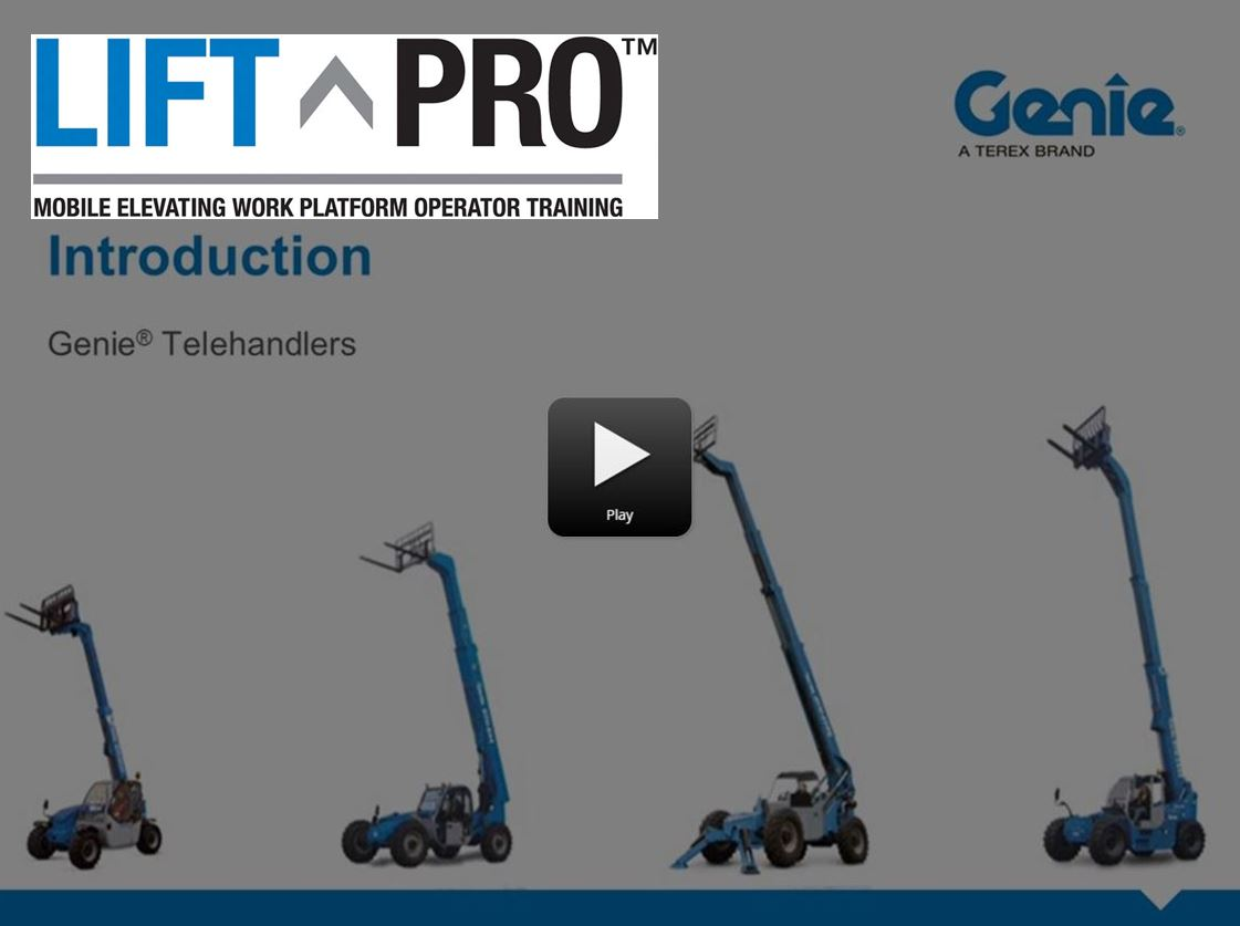 Lift Pro Online Product Training: Intro to Genie Telehandlers