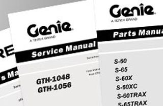 genie manuals - for service, parts or operation of equipment