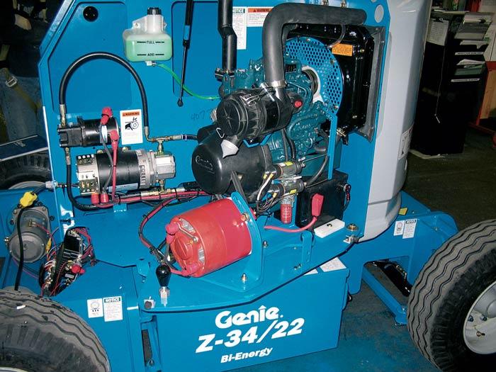 Genie Z-34/22 DC Bi-Energy articulating boom lift