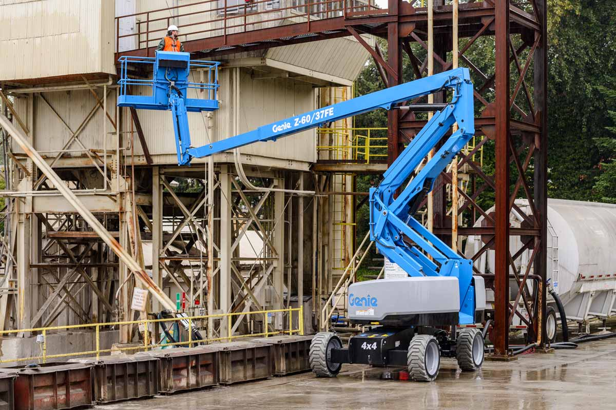 Genie Z-60/37 FE articulating boom lift