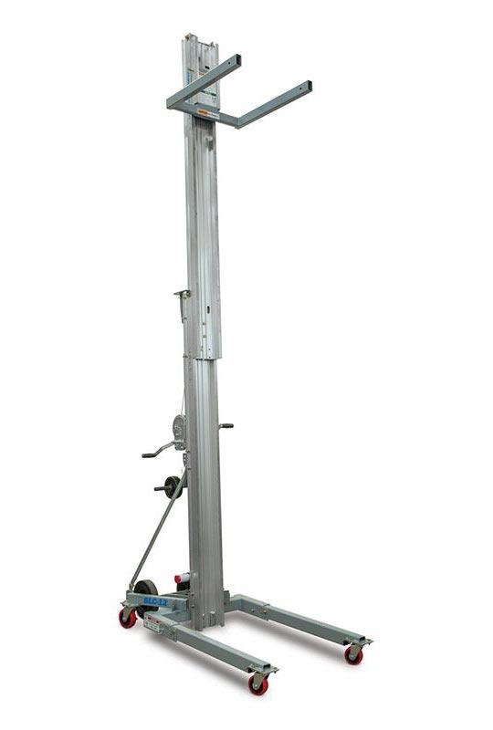 8 3-Stage Light Mast Top Mount Platform 5ft to 8ft 1000 lb Payload Capacity