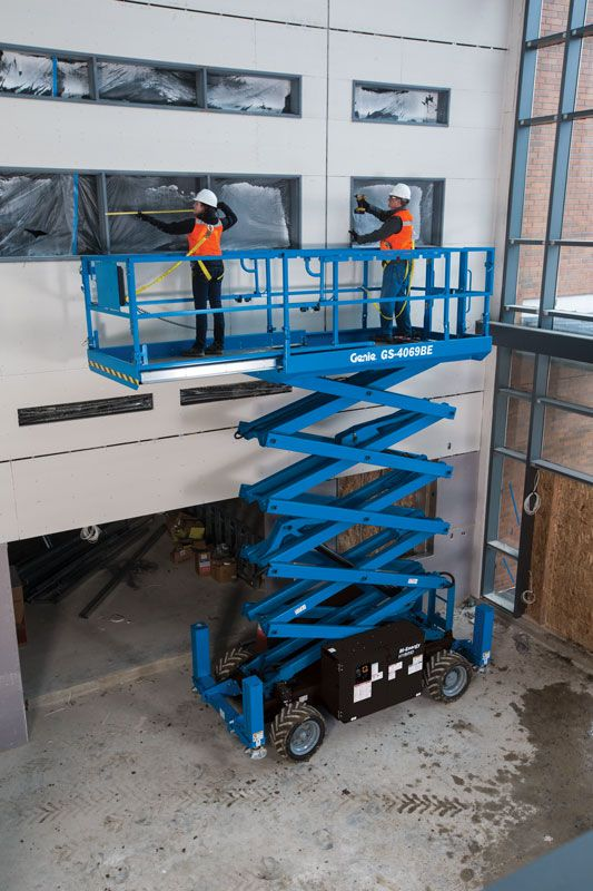 Genie GS-4069 Bi-Energy rough terrain scissor lift