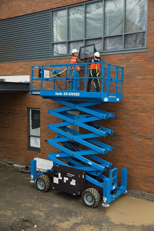 Genie GS-4069 Bi-Energy rough terrain scissor lift