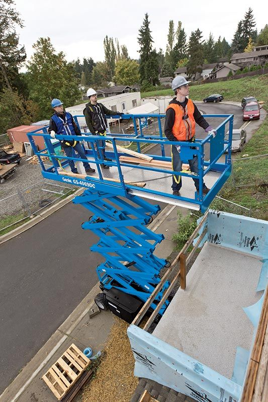 Genie GS-4069 DC rough terrain scissor lift
