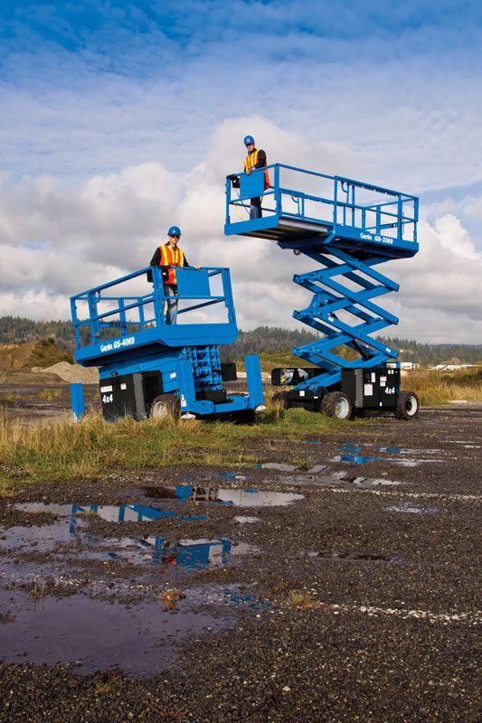 Genie GS-4069 RT rough terrain scissor lift