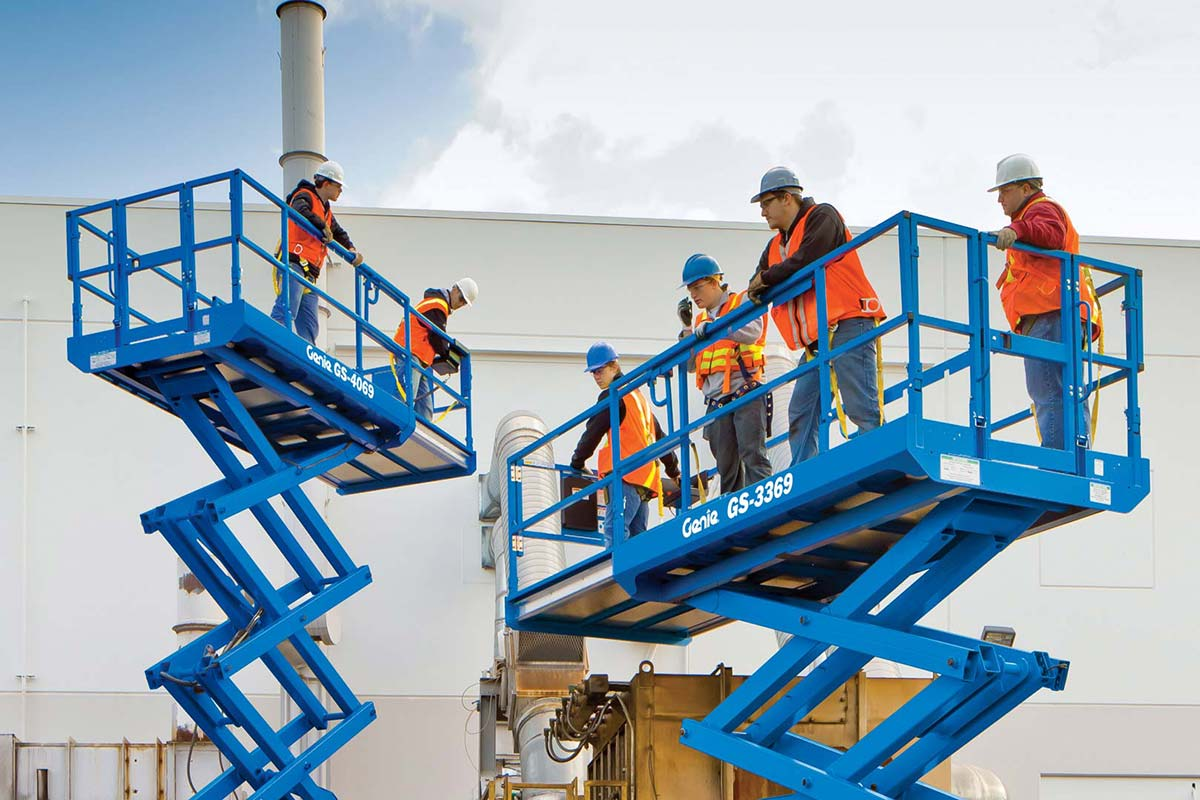 Genie GS-4069 RT rough terrain scissor lift