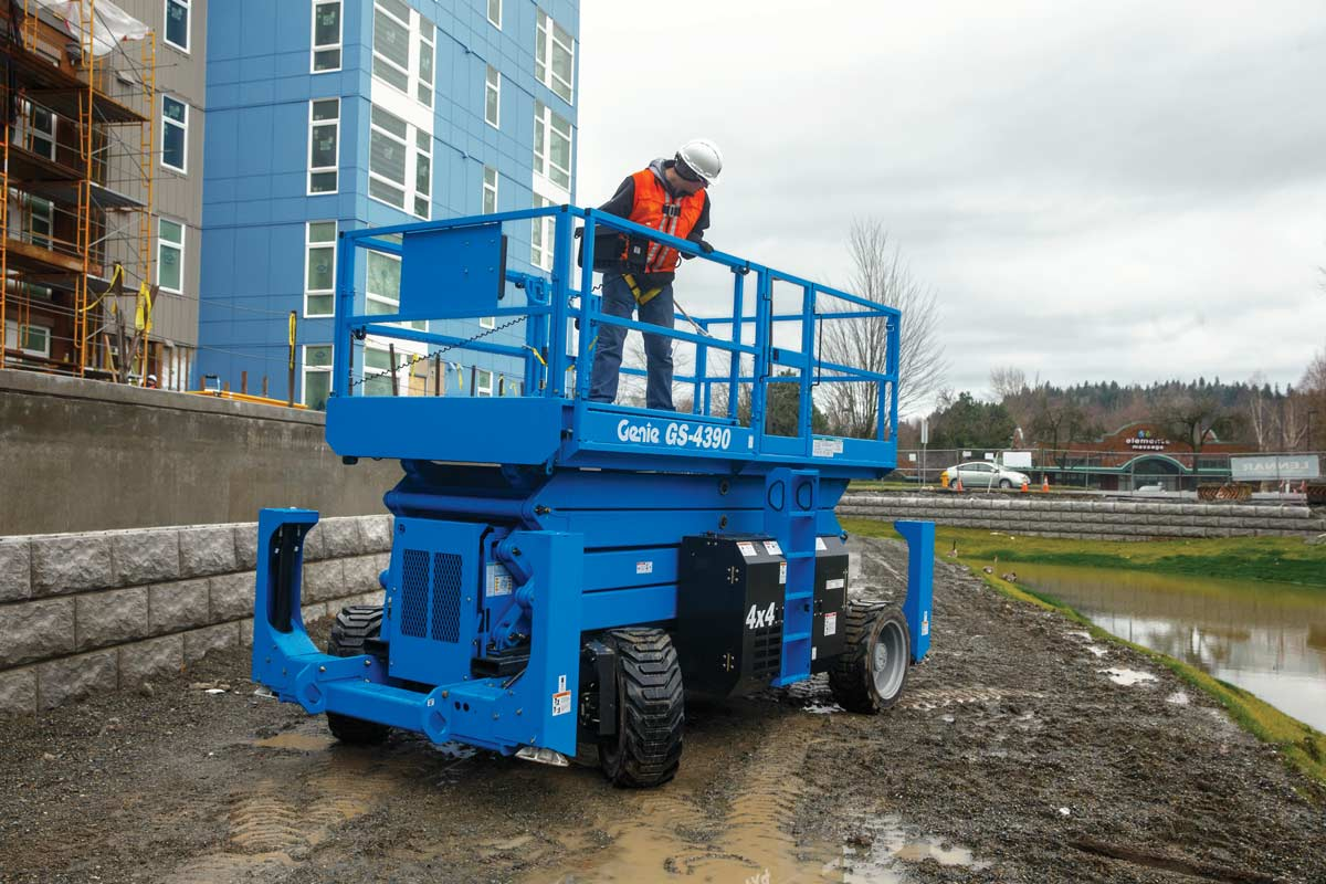 Genie GS-4390 rough terrain scissor lift