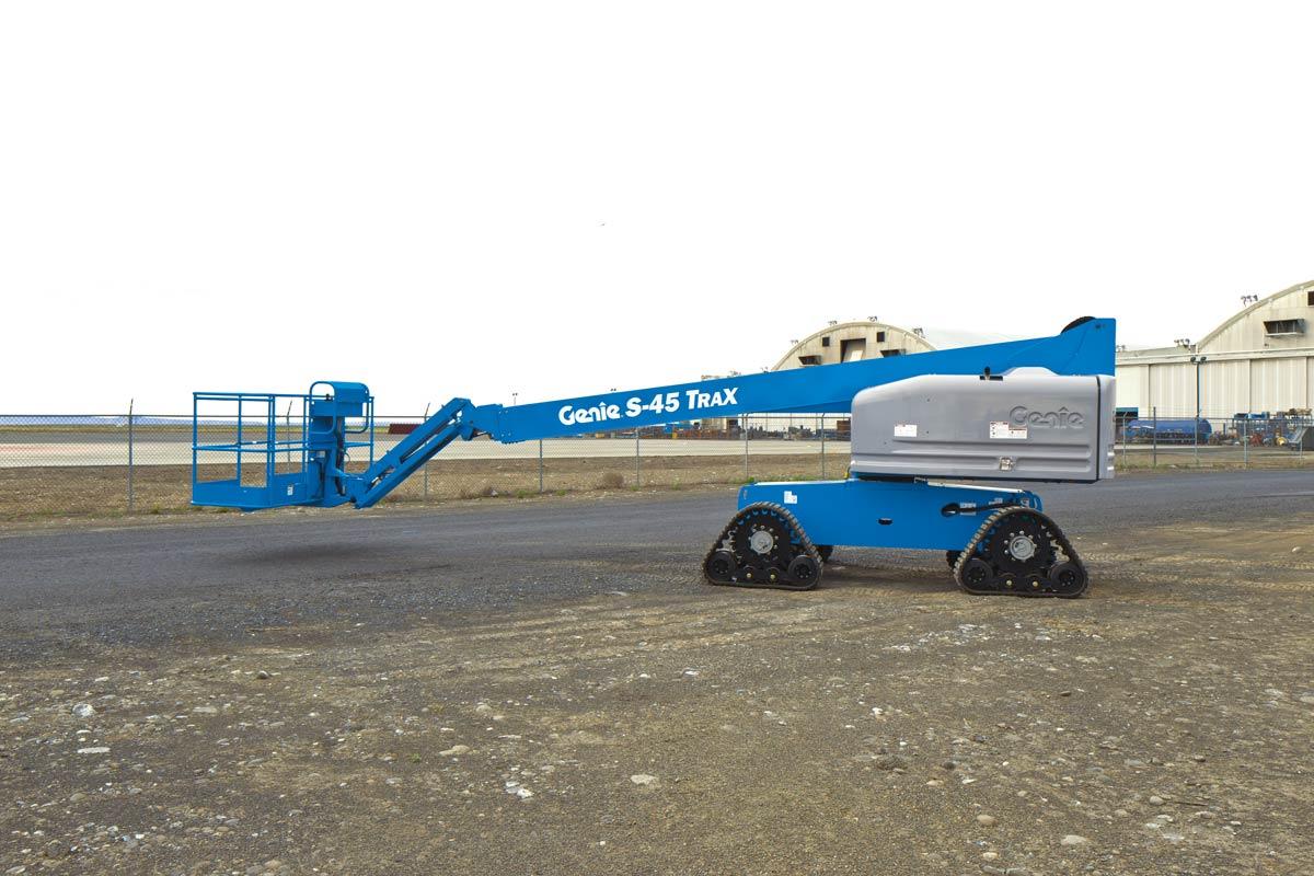 Genie S-45 Trax telescopic boom lift