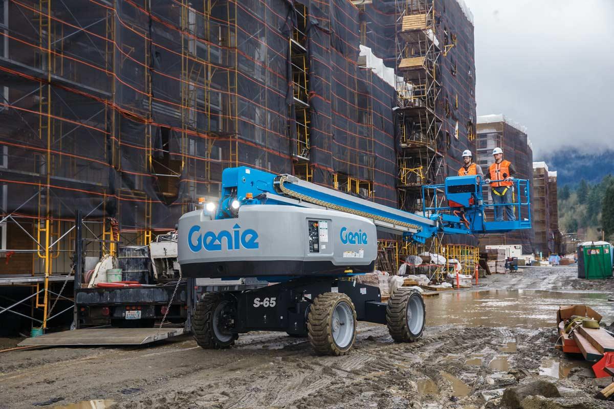 Genie S-65 telescopic boom lift