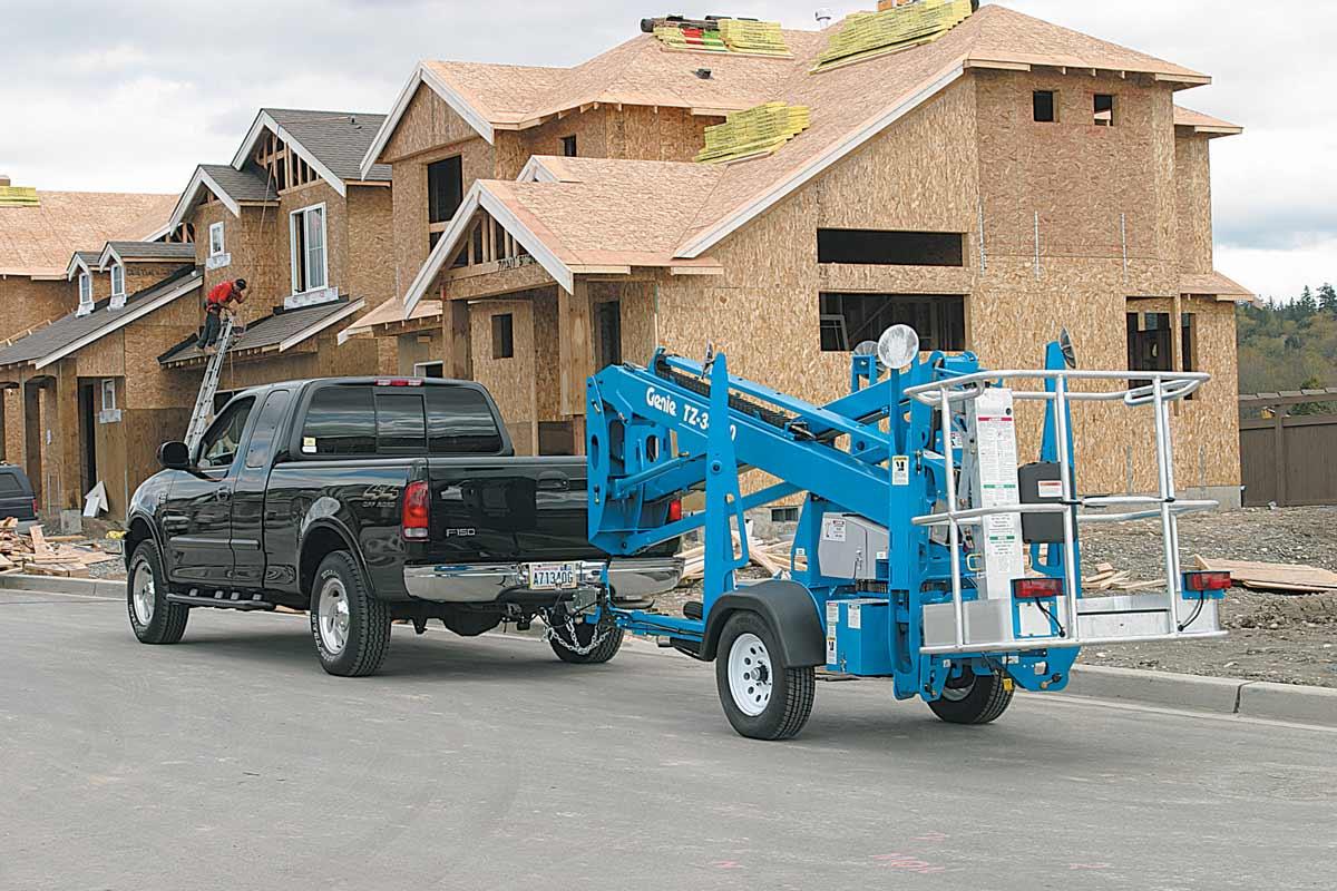 Genie TZ-34/20 trailer mounted boom lift