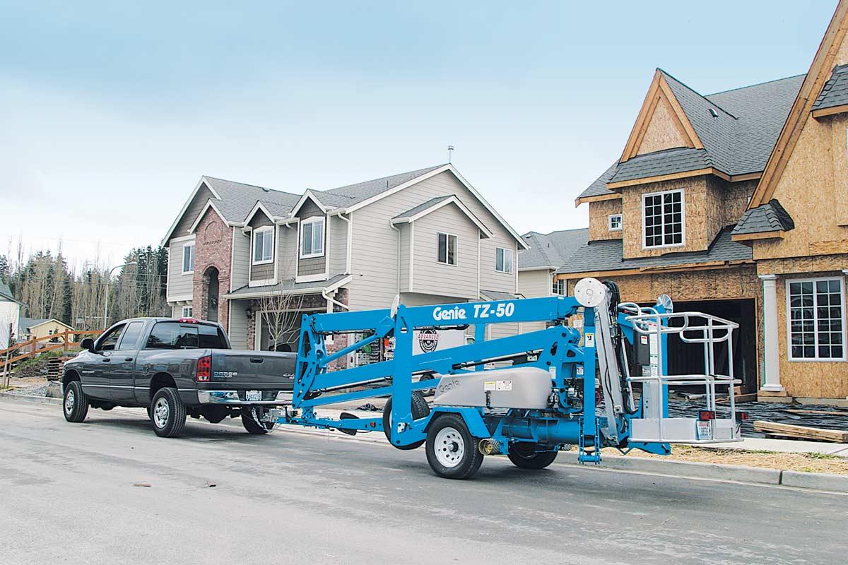 Genie TZ-50 trailer mounted boom lift
