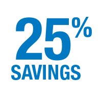 Save 25 percent on service resources